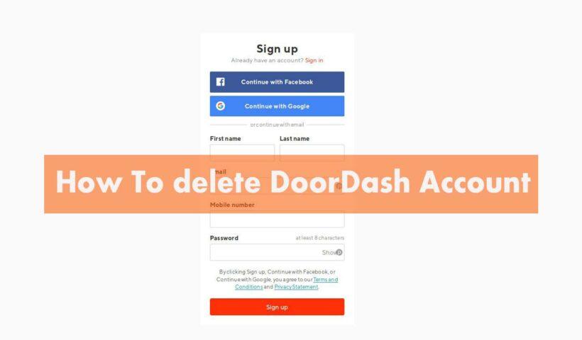 How to Delete a Doordash Account